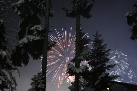 Rocky Mountain New Year's Fireworks