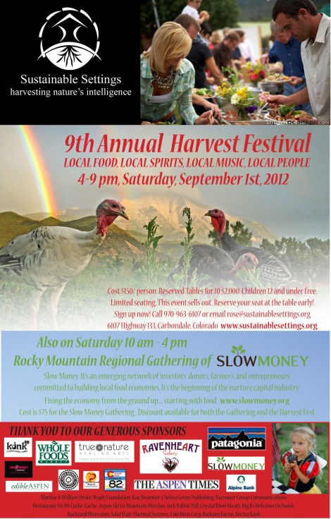 Sustainable Settings Harvest Festival Flyer